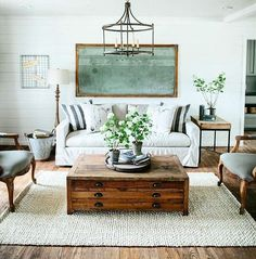 Fixer Upper Lights : find the exact light fixtures used by Joanna Gaines on Fixe. Fixer Upper Lights : find the exact light fixtures used by Joanna Gaines on Fixer Upper Modern Farmhouse Living Room Decor, Diy Home Decor Rustic, Home Living Room, Living Room Designs, Living Spaces, Rustic Farmhouse, Farmhouse Lighting, Farmhouse Chandelier, Farmhouse Design