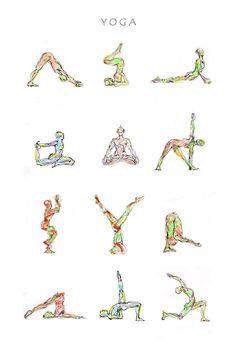 Yoga poster available in various sizes on http://fineartamerica.com/featured/yoga-boryana-korcheva.html
