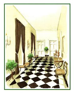 Mark Hampton:  A Fifth Avenue entrance hall designed by Elsie Cobb Wilson.