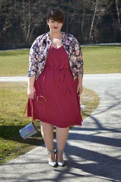 Plus Size Fashion - Curvy Claudia: Happy Women's Day - Dress: Evans  Jacket: Boohoo