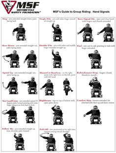 Motorcycle hand signals are important for all riders to know and understand but especially when riding in a group. -- Read more at the image link. #DogsTraining