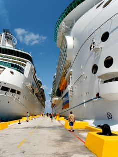 A great comparison of how big these cruise ships are.  *Costa Maya, Mexico