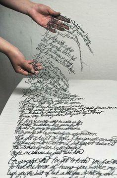 Tipografia cortada à mão por Antonius Bui https://www.behance.net/AntoniusBui