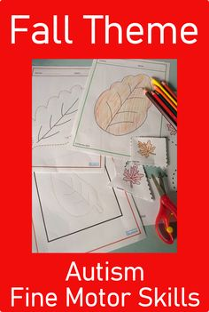 Looking for Fall Theme Fine Motor Skills Activities for your students with autism? Download these no prep printables today from Curriculum For Autism for your classroom or home school