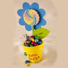flower pot craft to put your eggs in