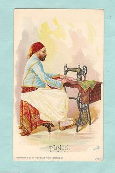 1892 Singer Sewing Machine Trade Card