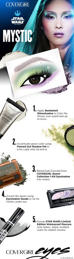 Thinking about Halloween? Try this step-by-step STAR WARS-inspired tutorial for… Skin Makeup, Makeup Art, Makeup Tips, Beauty Makeup, Hair Beauty, Disfraz Star Wars, Homecoming Makeup, Fantasy Makeup, Eye Make Up