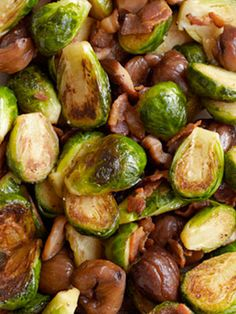Brussels Sprouts with Bacon and Roasted Chestnuts | Beekman1802.com