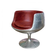 Aluminium Swivel Chair Red