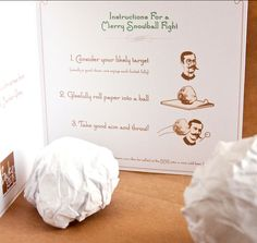 Send an office snowball fight to your favorite clients at Xmas time - keep in your idea file