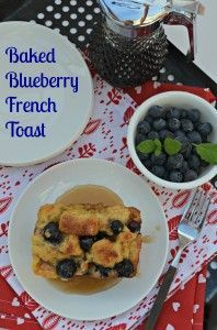 Blueberry Baked French Toast #brunch #breakfast #easy