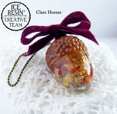 You won't want to squirrel this acorn away – Clare Horner shares how to cast this ornament for your Holiday Tree!