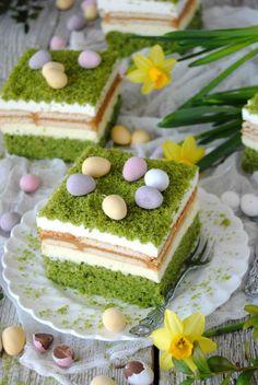 Polish Cake Recipe, Polish Recipes, Baking Recipes, Cake Recipes, Desert Recipes, No Bake Cake, Vanilla Cake, Nutella, Catering