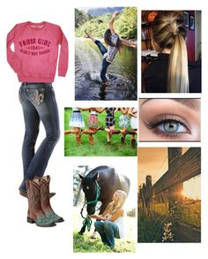 Designer Clothes, Shoes & Bags for Women Cowgirl Style Outfits, Country Style Outfits, Southern Outfits, Country Attire, Country Girl Style, Country Fashion, Western Outfits, Cute Casual Outfits, Western Wear