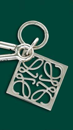 #LOEWE gift collection 2014.  Metallic anagram keyring.  Shop online loewe.com #loewejwa #LOEWEgifts