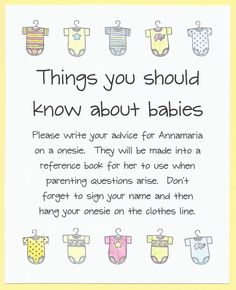 Baby Shower Game  Things You Should Know About by CardsByKooper - Quick and Easy Baby Shower Games