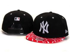 Casquette NY New York Yankees MLB Serpentin Snapback Rouge : Casquette Pas Cher