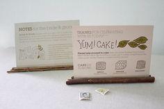 table cards by Meg Gleason, via Flickr