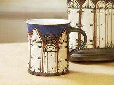 Pottery Mug - Hand thrown and Hand painted in Bulgaria. Ceramic mug, Crockery…
