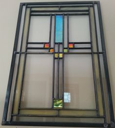 Prairie Style Art Glass Lightscreen Panel by UnifiedVisionStudios