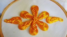 Hand Embroidery: Flowers with Cord flower Stitch