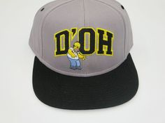 Simpsons Homer Gray Youth Childrens Size Snapback Hat Cap  #Bioworld #BaseballCap #Simpsons