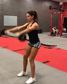 """6,370 Likes, 136 Comments - Alexia Clark (@alexia_clark) on Instagram: """"Straight bar movements!  Exercise 1: 15 reps  Exercise 2: 15 reps each side  Exercise 3: 20 reps…"""""""