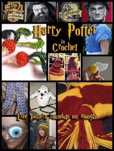 Harry Potter Crochet Patterns - free! Roundup on Moogly!