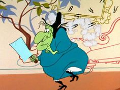 Witch Hazel and her flying hairpins (Looney tunes)
