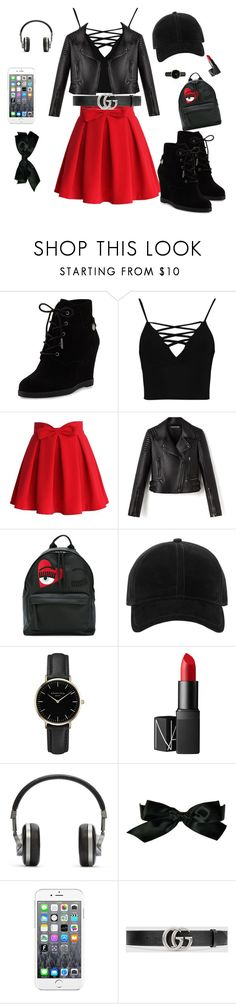 """""""Created by my sister"""" by callmebekahboo ❤ liked on Polyvore featuring MICHAEL Michael Kors, Boohoo, Chicwish, Chiara Ferragni, rag & bone, ROSEFIELD, NARS Cosmetics, Master & Dynamic, Chanel and Maison Kitsuné"""