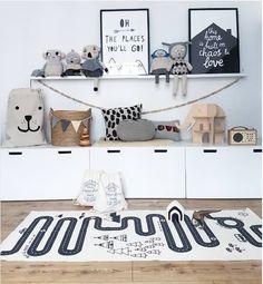 Monochrome Children's room, White Ikea storage and wicker basket storage. Scandi themed nursery and typography prints Monochrome Children's room, White Ikea storage and wicker basket storage. Scandi themed nursery and typography prints