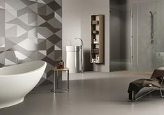 PIASTRELLE EQUILIBRI, bagno moderno ceramica bicottura #LaFaenzaCeramica http://www.lafaenzaceramica.com/it/prodotti/collezione/equilibri/