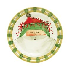 Vietri Old St. Nick Dinner Plate | Italian stoneware | Dishwasher safe | Made in Italy | 10.75"