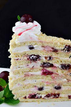 Vanilla Cake, Bacon, Deserts, Breakfast, Food, Sweets, Morning Coffee, Desserts, Eten