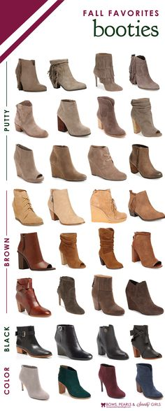 Fall Favorite Booties | Bows, Pearls & Sorority Girls