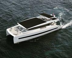 Power Catamaran, Yacht Design, Yachts, Solar Power, Cannes, Type 3, Sun Lounger, Theater, Boats