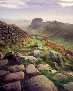 Hadrian's Wall; a northern defense of the Roman Empire commissioned by Emperor Hadrian in 122 CE