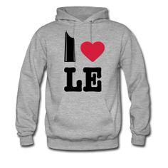 "I Love LE (Leipzig) Hoodie with ""Uniriese"" / Panorama Tower - http://iloveberlin.spreadshirt.de/i-love-le-i-love-leipzig-hoodie-A22188153"