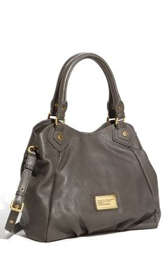 Free shipping and returns on MARC BY MARC JACOBS 'Small Classic Q Fran' Shopper at Nordstrom.com. Pleats below the workwear-inspired logo add subtle dimension to a slouchy shopper cut from pebbled leather with a luminous finish. Dual rolled handles and an optional adjustable strap provide convenient carrying options.