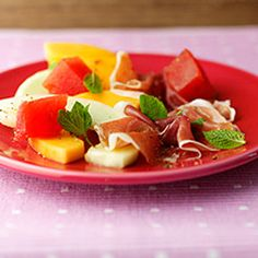 Parma and Melon Starter with Honey and Balsamic Dressing | Healthy Recipe | Weight Watchers UK