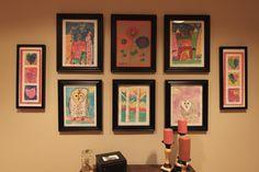 This is how I displayed the boys kindergarten art work...