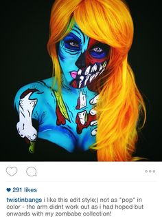 I'm usually not interested in pop art zombies, I need gore on my zombies! But this one is cool!
