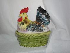Annons på Tradera: Äldre ägghöna godisgömma höna retro