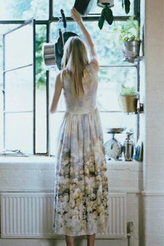 Dandelion print dress by Paul Smith