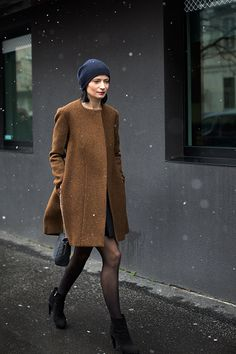 that coat is phenomenal. and with the perfect beanie too. love. Milan. #ScottSchuman #TheSartorialist