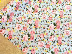 COTTON Prints Large Floral vintage flowers by TheFabricShopUK, £7.99