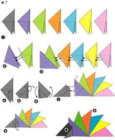 Hérisson en origami 2