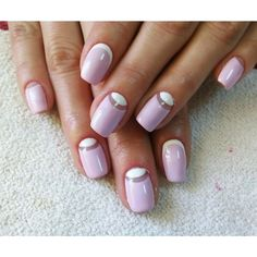Dating nails, Elegant nails, Fresh nails, Gentle half moon nails, mix match nails, Perfect nails, Reverse french gel polish manicure, Reverse French manicure