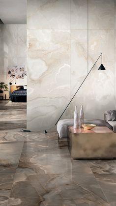 Inspired by the refined beauty of alabaster, the Rêves de Rex collection by @florim offers porcelain surfaces with soft veins and gentle color contrasts in perfect harmony with the most contemporary luxury living trends. #florim #florimceramiche #rexceramiche #porcelain #tiles