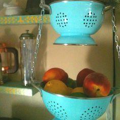 Colander hanging basket for fruit